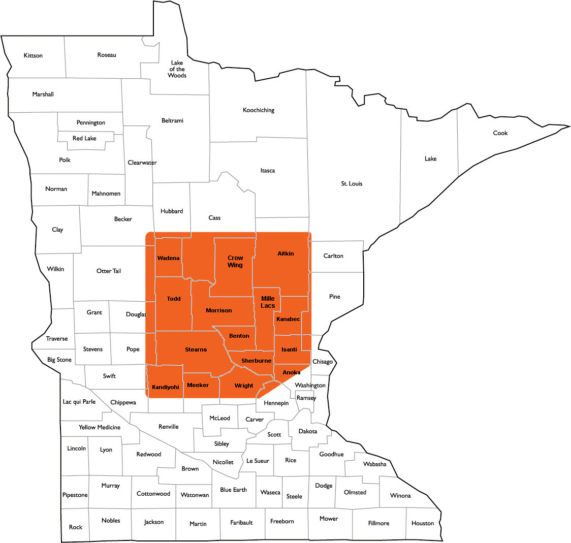 J & L Insurance Services Territory Map